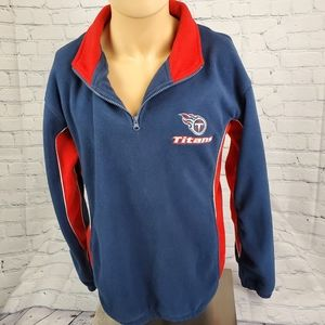 NFL Tennessee Titans Neck Zip Blue Red Embroidered